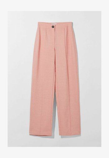WIDE LEG - Trousers - pink