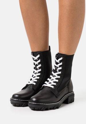 SHILOH - Lace-up ankle boots - black