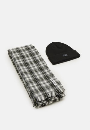JACFROST BEANIE AND SCARF GIFTBOX SET UNISEX - Sciarpa - black