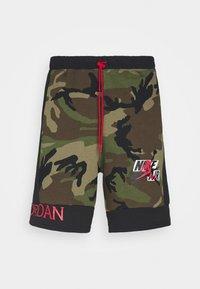 CAMO SHORT - Spodnie treningowe - olive/black