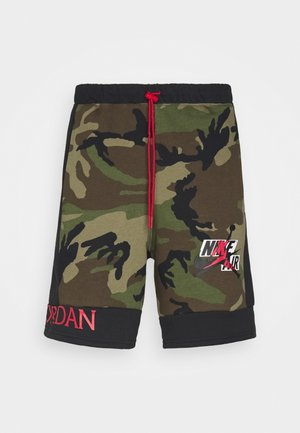 CAMO SHORT - Tracksuit bottoms - olive/black