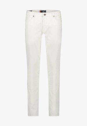 Straight leg jeans - white plain