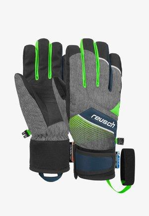FERDI - Gloves - black melange / neon green