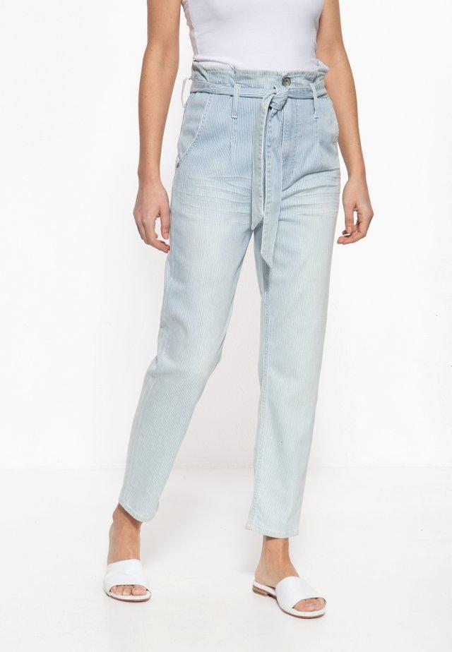 MIT STREIFENMUSTER MOON - Slim fit jeans - hellblau