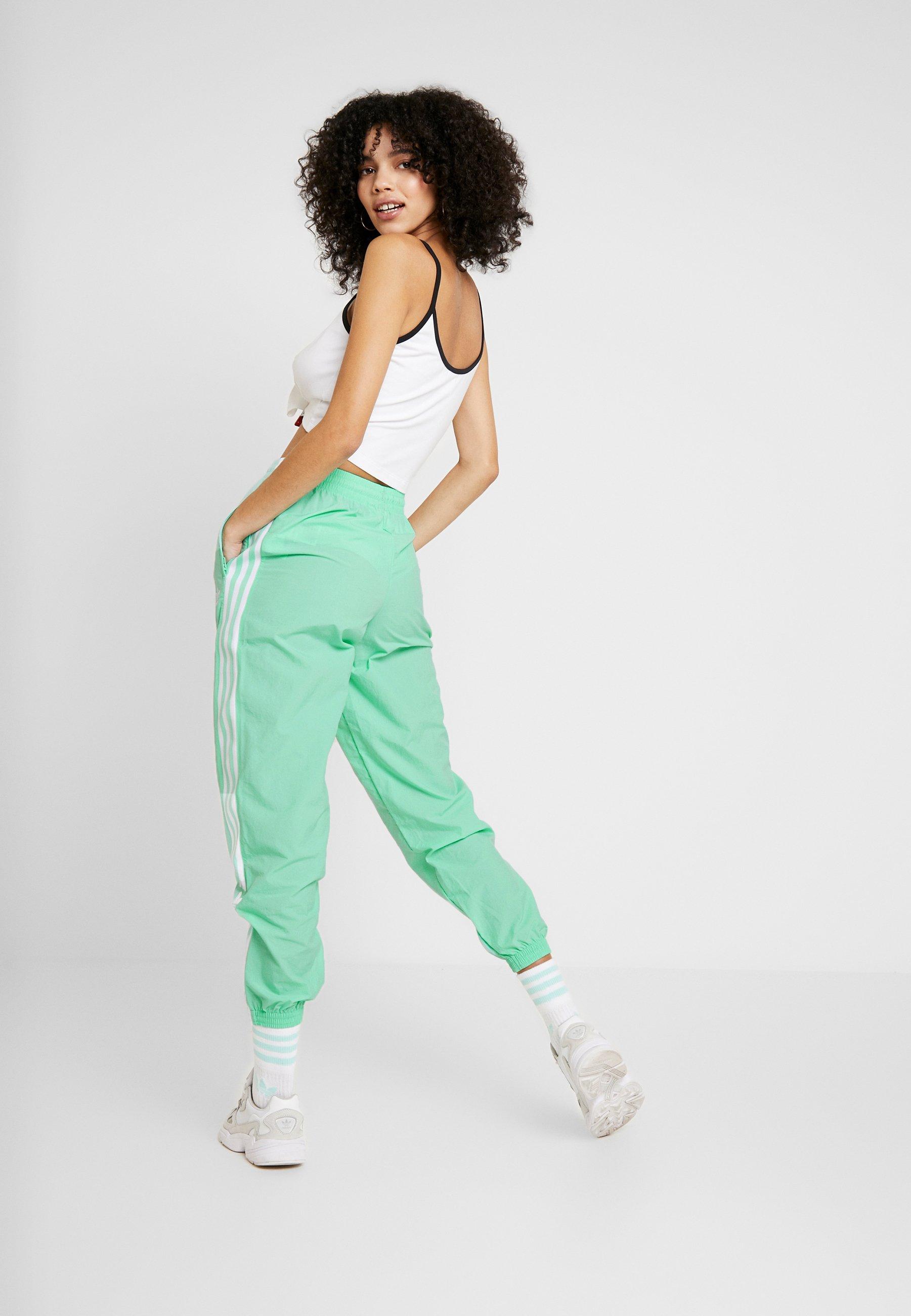 LOCK UP ADICOLOR NYLON TRACK PANTS - Pantalon de survêtement - prism  mint/white