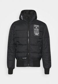 Alpha Industries - HOODED PUFFER - Chaqueta de entretiempo - black - 4
