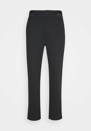 PINSTRIPE GALFOS - Trousers - black
