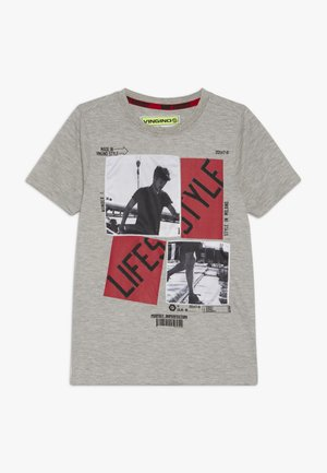HEFFIE - T-shirt med print - light grey