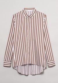Eterna - Button-down blouse - braun weiß - 4