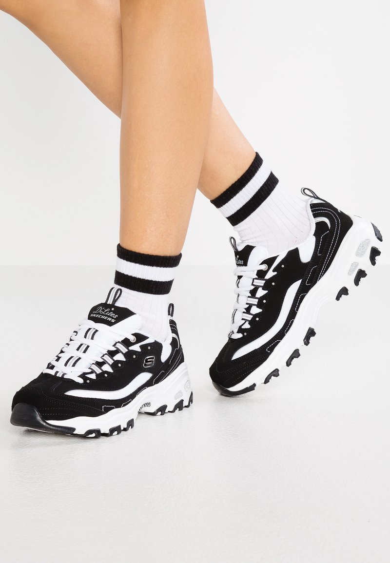 Skechers Wide Fit - WIDE FIT D'LITES - Trainers - black