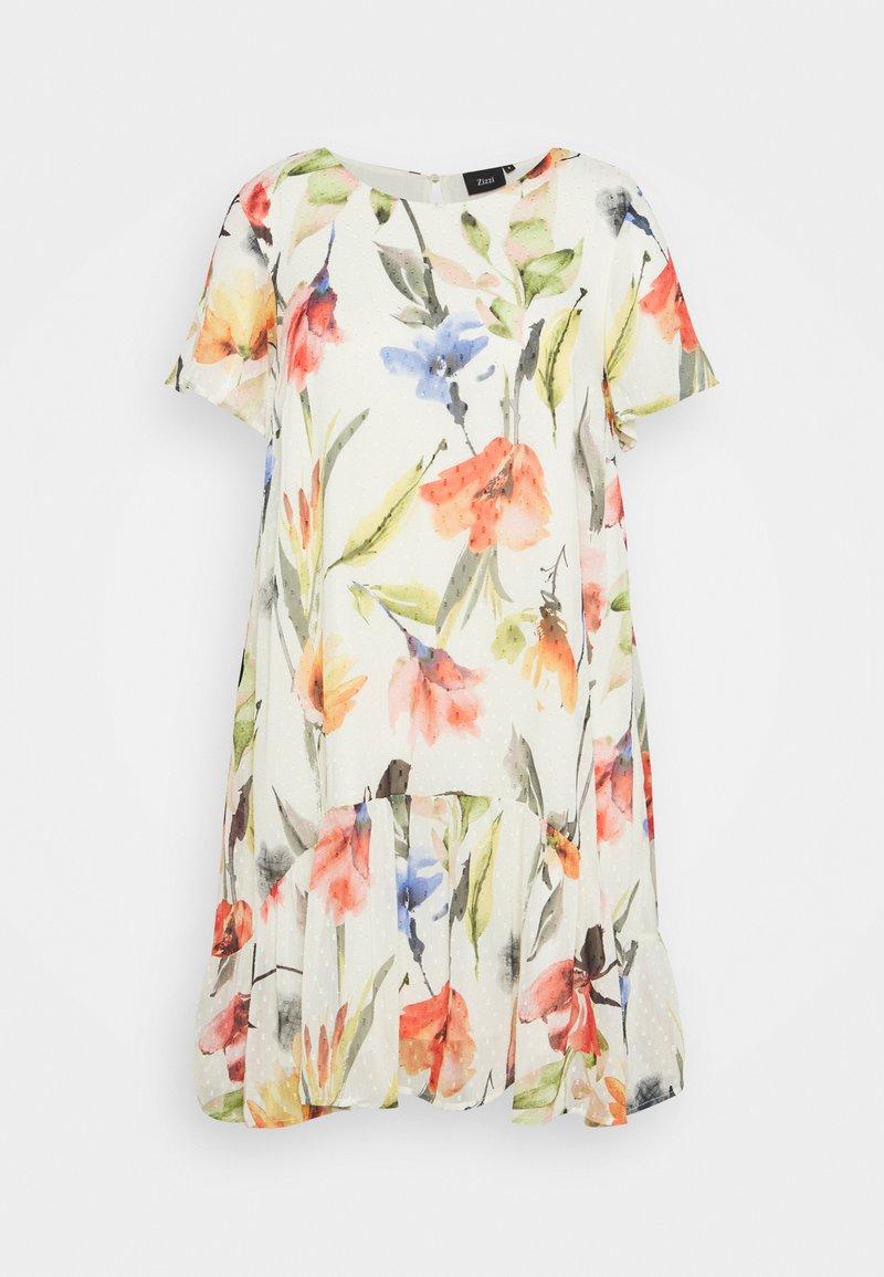 Zizzi - MILUNA DRESS - Denní šaty - snow white
