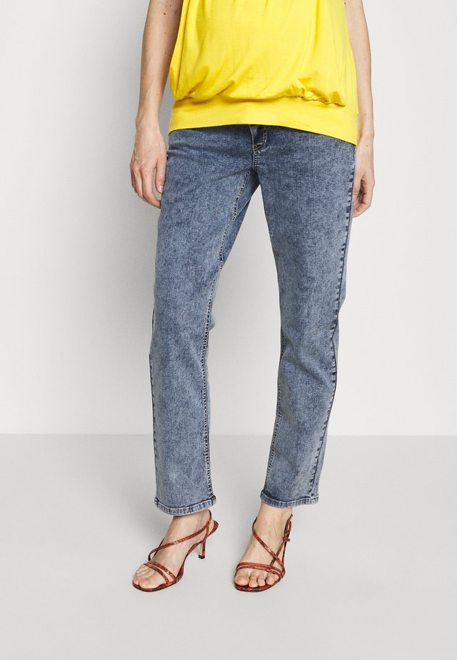 MLELKO CROPPED COMFY FIT - Jeans Relaxed Fit - light blue denim/stone wash