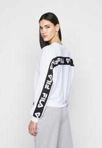 Fila Tall - TALLIS CREW - Long sleeved top - bright white - 2