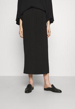 REMANO - Maxi skirt - black