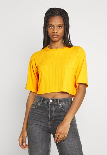 Print T-shirt - yellow medium