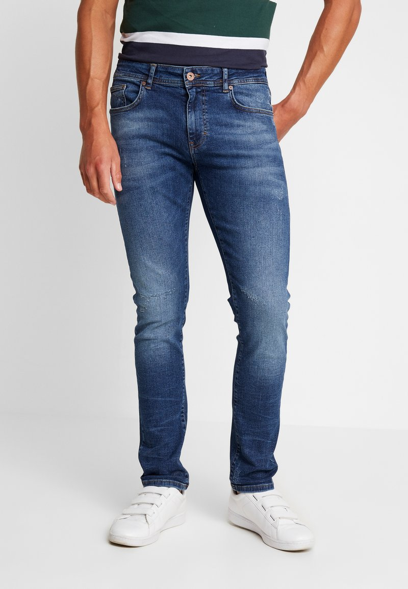 Pier One - Slim fit jeans - blue denim