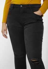 Even&Odd Curvy - Jeans Skinny Fit - washed black - 5