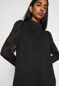 Missguided - HIGH NECK FRILL HEM DRESS - Day dress - black - 3