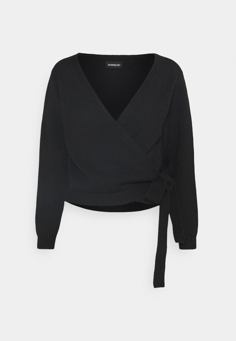 Even&Odd - WRAP CARDIGAN - Cardigan - black