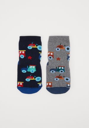 HOMESOCKS SOFTSTEP TRACTORS 2 PACK - Strømper - navy/grau