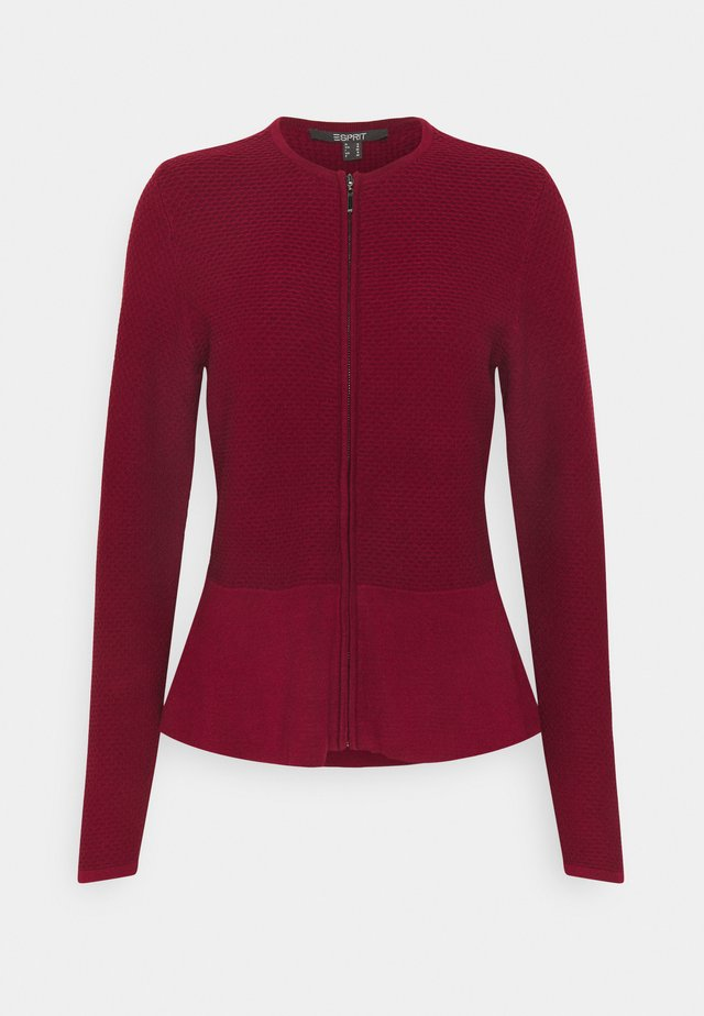 CARDI - Strikjakke /Cardigans - bordeaux red