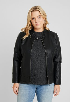CARROBBER JACKET - Faux leather jacket - black