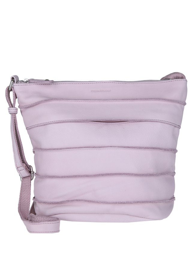 BOLD RIFFELCHEN - Across body bag - light rose