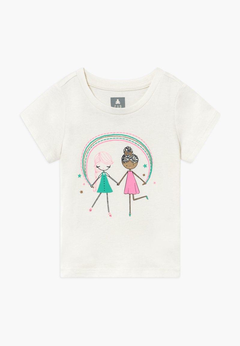 GAP - TODDLER GIRL  - T-shirt print - off-white/pink