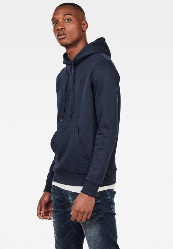 G-Star PREMIUM - Bluza z kapturem - blue/granatowy Odzież Męska ZBPK