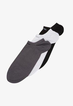 MEN LINER NO CUSHION 3 PACK - Trainer socks - grey combo