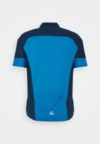 LÖFFLER - BIKE PACE - T-shirt z nadrukiem - blue lake - 1
