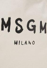 MSGM - SHOPPING PAINT BRUSHED LOGO - Cabas - beige - 3