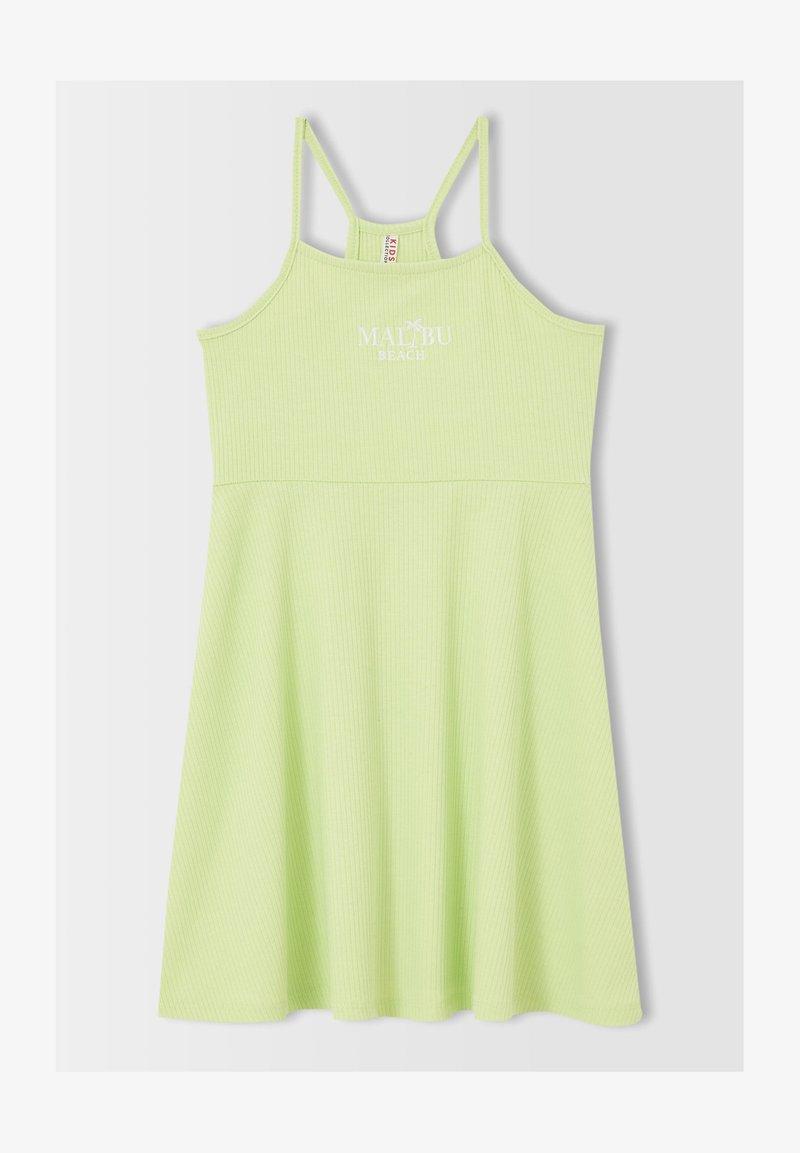 DeFacto - REGULAR FIT  - Jersey dress - green