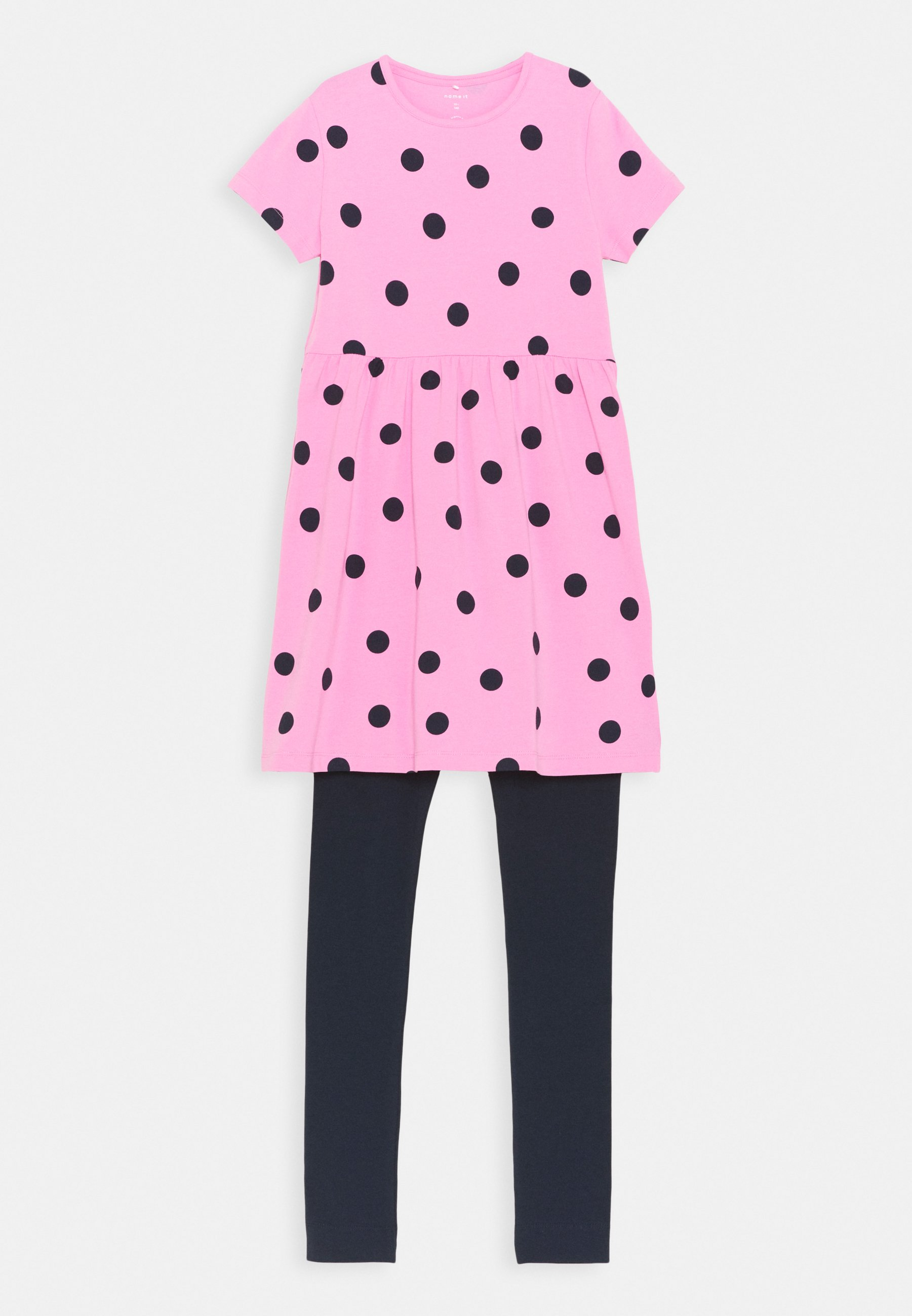 Børn NKFBELIVA DRESS SET - Leggings