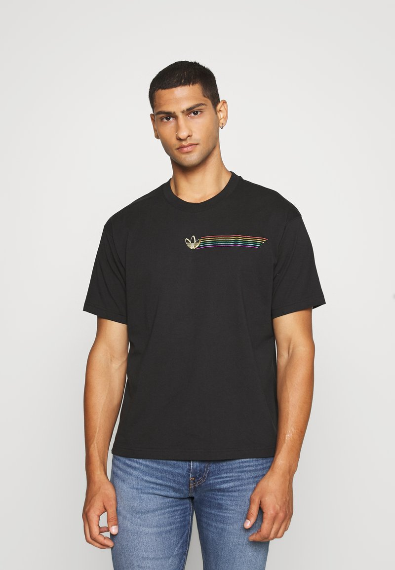 adidas Originals - PRIDE SHORT SLEEVE GRAPHIC TEE - Print T-shirt - black