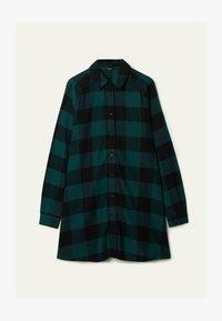 schwarz - black/pine green maxi tartan