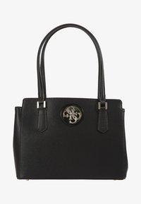 Guess - OPEN ROAD LUXURY SATCHEL - Handbag - black - 1