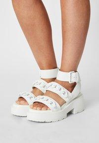 Buffalo - VEGAN ROCKET - Platform sandals - white - 0