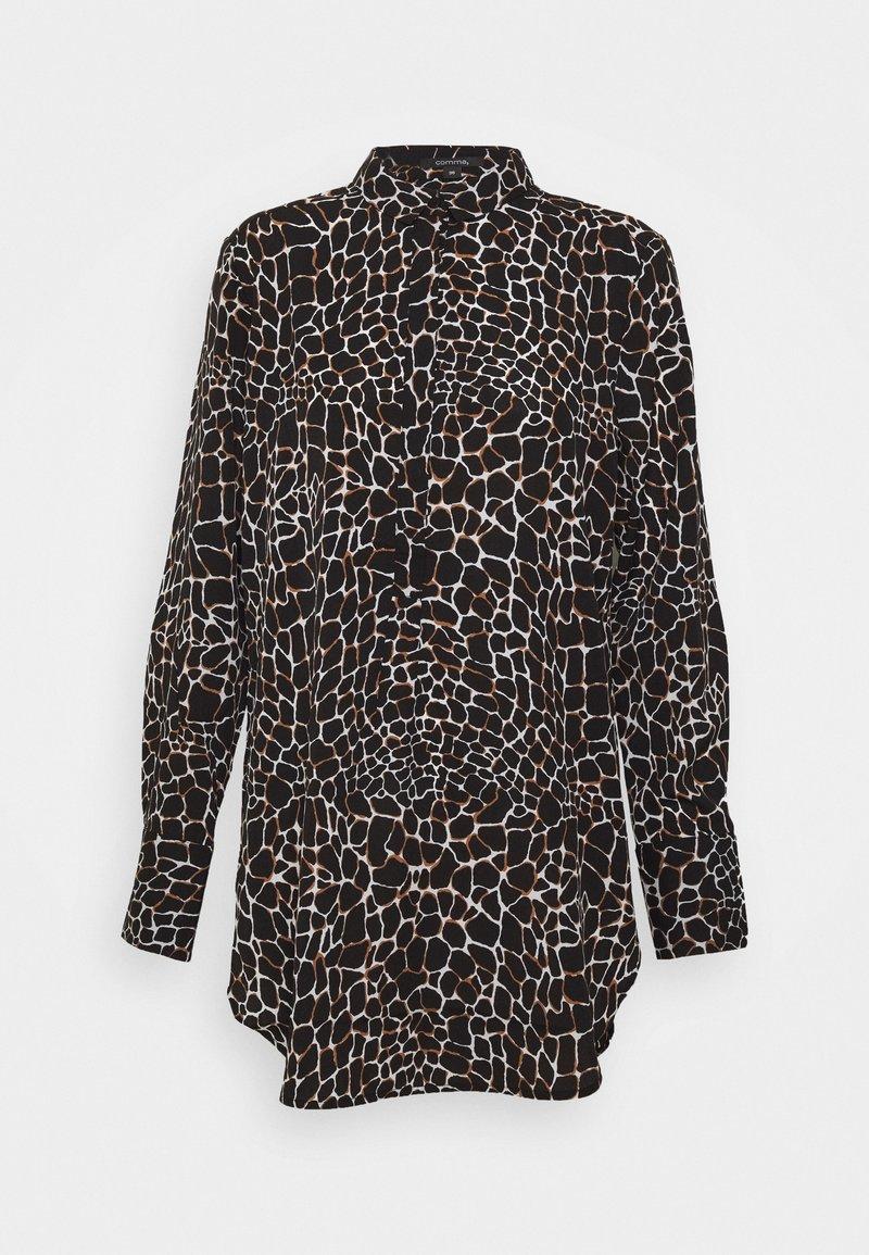 comma - Button-down blouse - black
