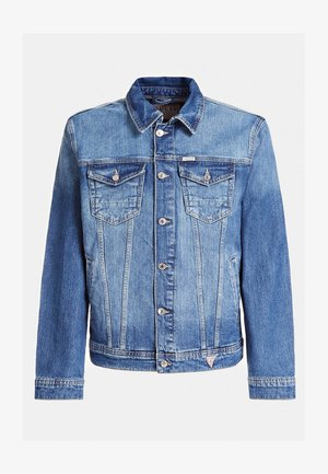 SLIM FIT - Denim jacket - blau