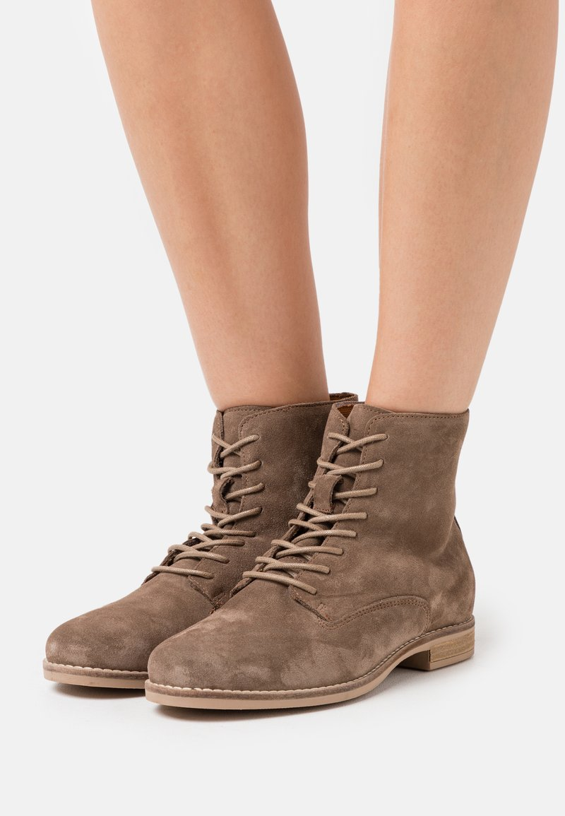 Anna Field - LEATHER - Lace-up ankle boots - taupe