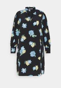 Glamorous Curve - GATHERED DRESS WITH PUFF LONG SLEEVES - Kjole - black - 5