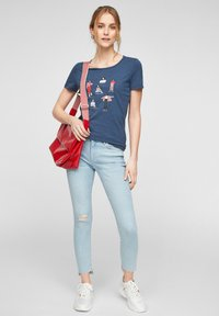 s.Oliver - Print T-shirt - blue placed print - 1