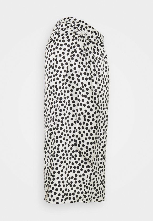 SPOT PRINT SARONG - Pencil skirt - mono