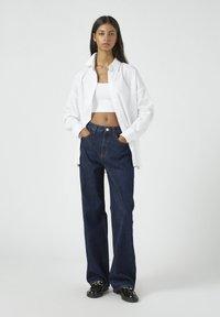 PULL&BEAR - Jeansy Straight Leg - dark blue - 1