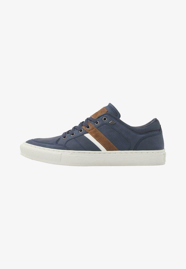 Sneakers laag - navy/cognac