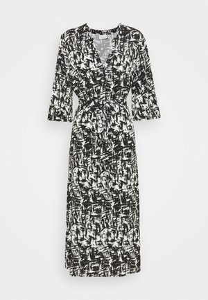 KASELKA DRESS - Day dress - white/black graphic