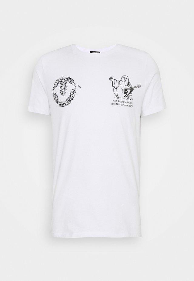 HORSESHOE RHINESTONES - T-shirt imprimé - white