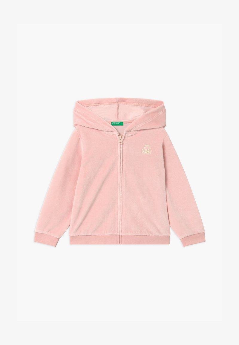 Benetton - HOOD  - Zip-up hoodie - pink