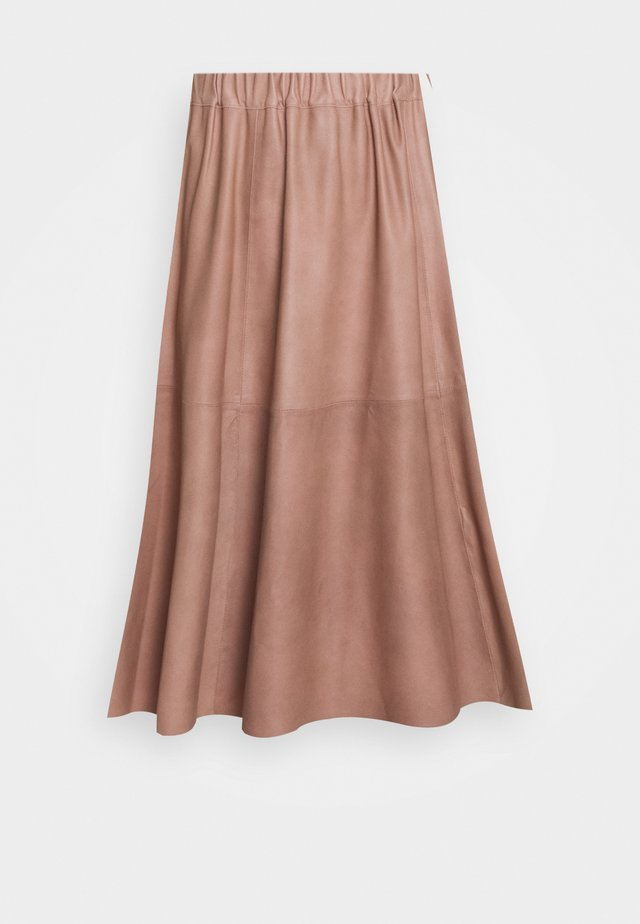 SKIRT - Falda acampanada - dusty rose